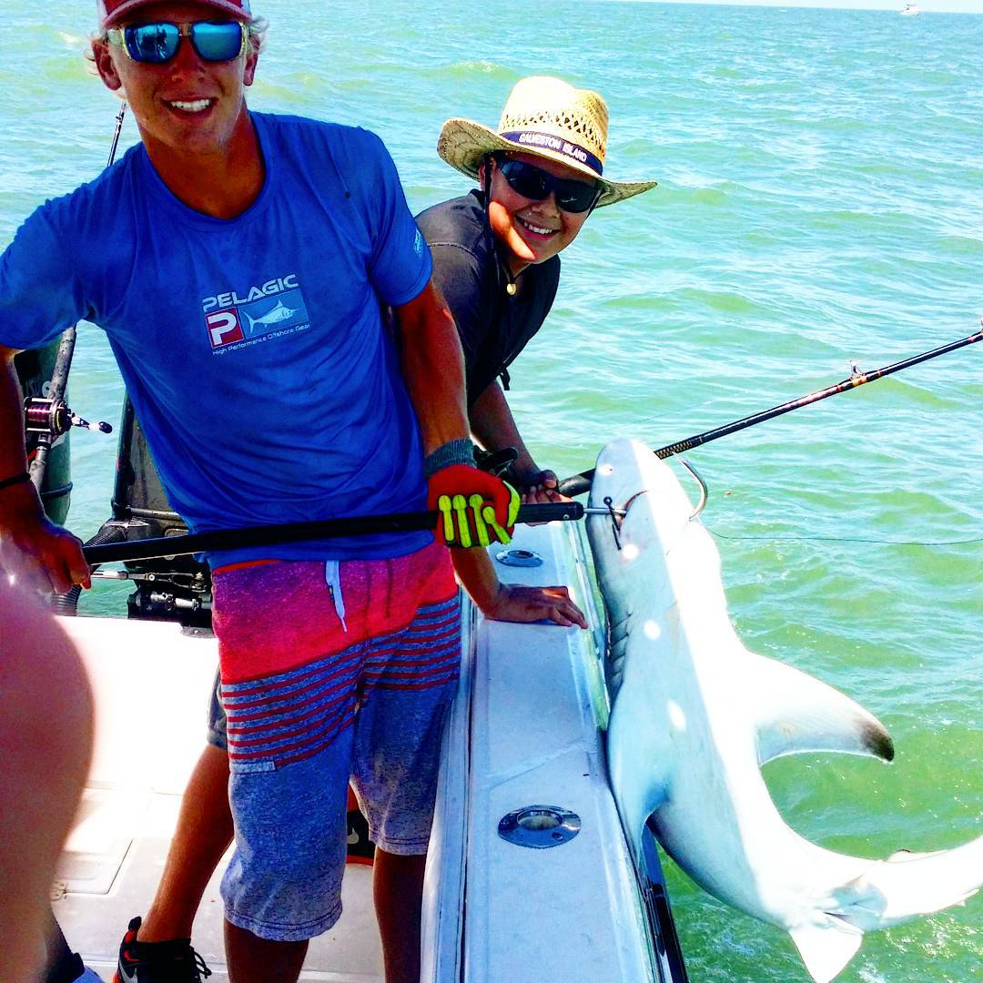 Shark fishing freeport freeport texas fishing charters for Freeport fishing report